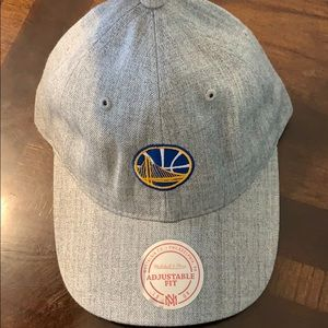 Golden State Warriors NBA Heather Grey Dad Hat